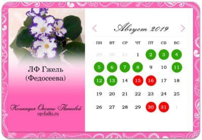 лунный календарь посадки комнатных растений